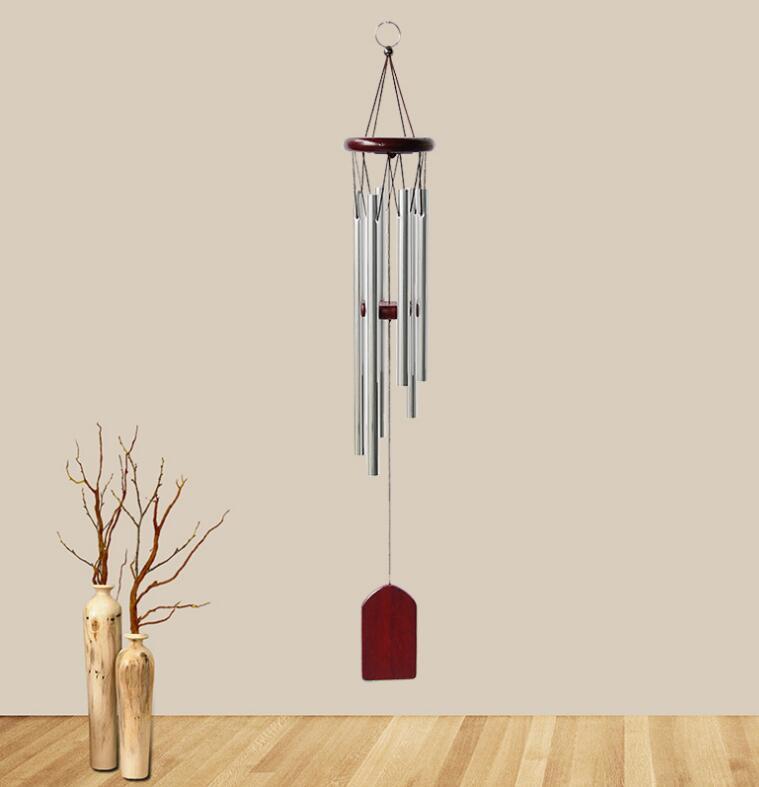 Wind Chime деревянный металлический ветер CIME Nordic Pastorlal Aeolian Bells маленький 6 трубной балкон висит двери фестиваль украшения вечеринки 2 цвета WMQ69
