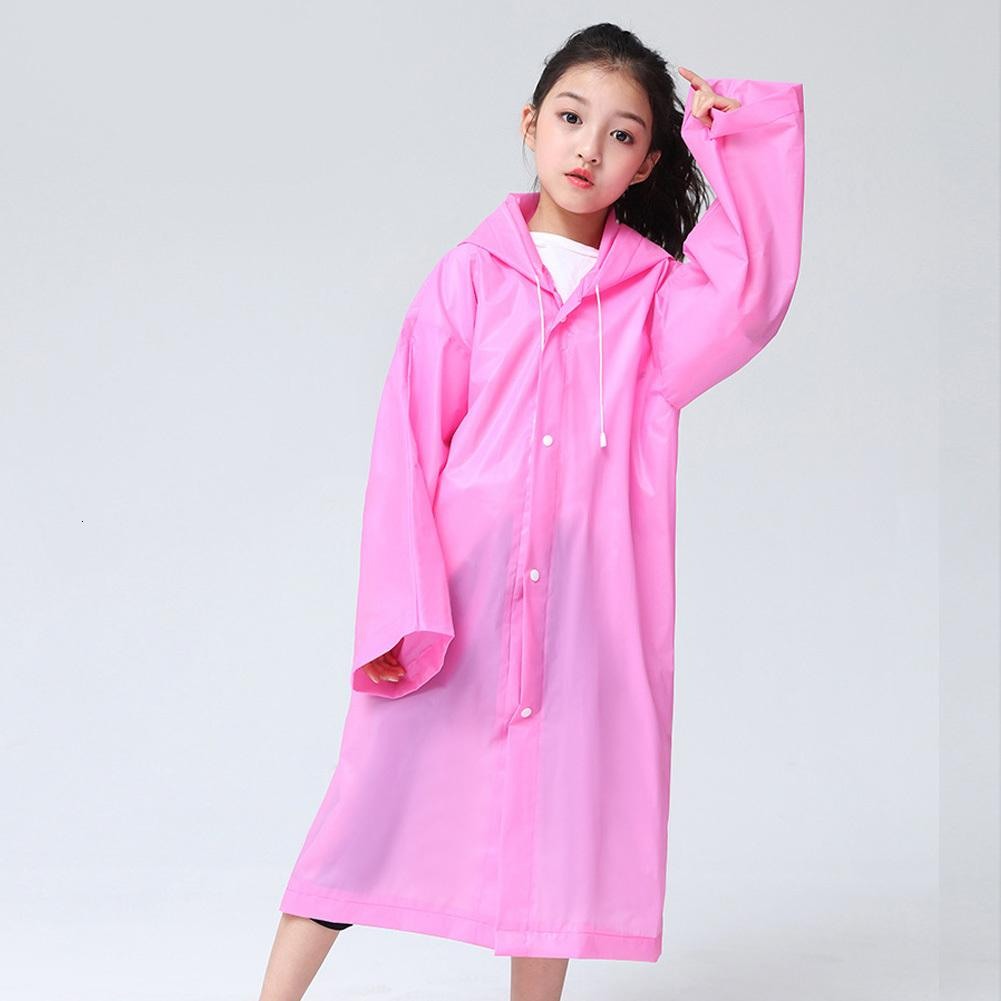 Yağmurluk panço su geçirmez sıcak EVA öğrenci sırt çantası kız hoodie 110 cm erkek çocuk m3 ppoil