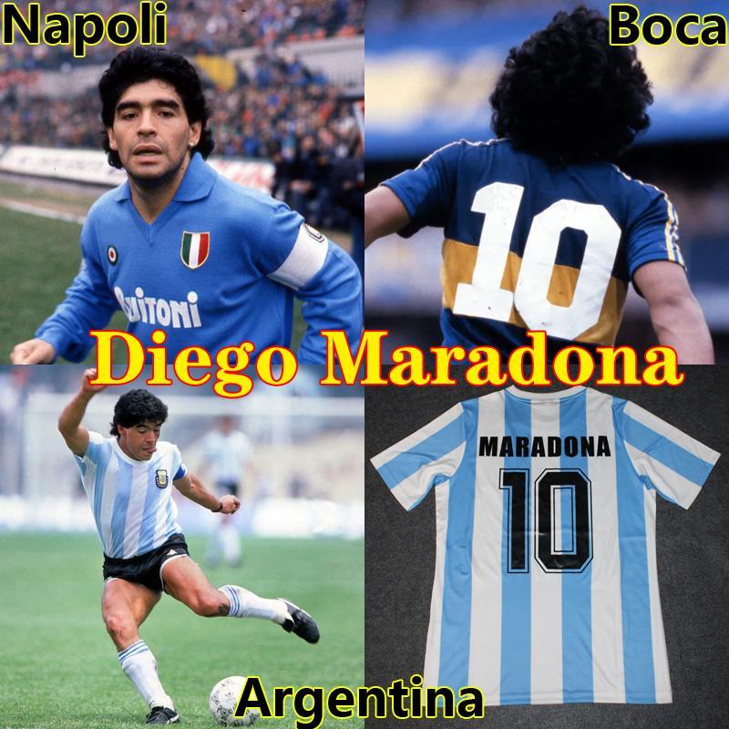 مارادونا ريترو بوكا جونيورز 1981 الأرجنتين دييغو مارادونا 1978 1986 1994 نابولي 88 89 90 91 كرة القدم جيرسي ريترو لكرة القدم قميص