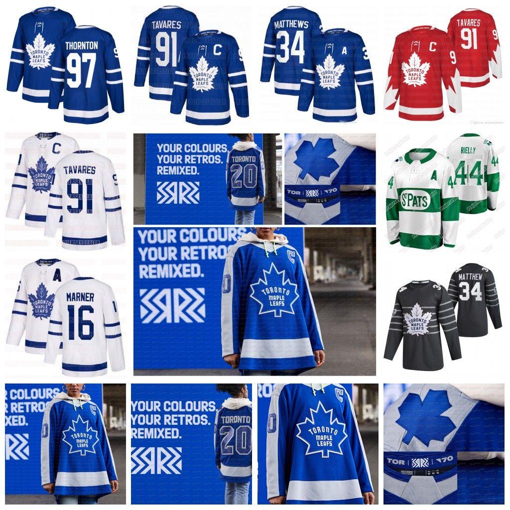 34 Auston Matthews Toronto Maple Leafs 2020 Alternate Red John Tavares Mitch Marner William Nylander Frederik Andersen Rielly Kerfoot Jersey