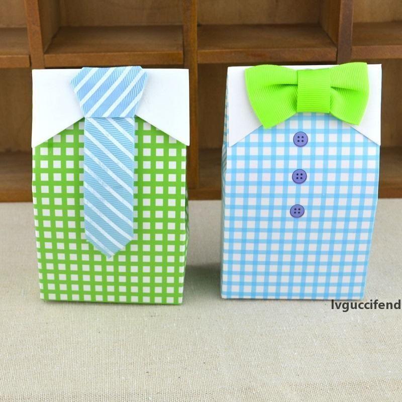 Papillon Camicia Candy Box / Scatola di caramelle di nozze, confezione caramelle Baby shower regalo / scatola di cioccolato wen5861