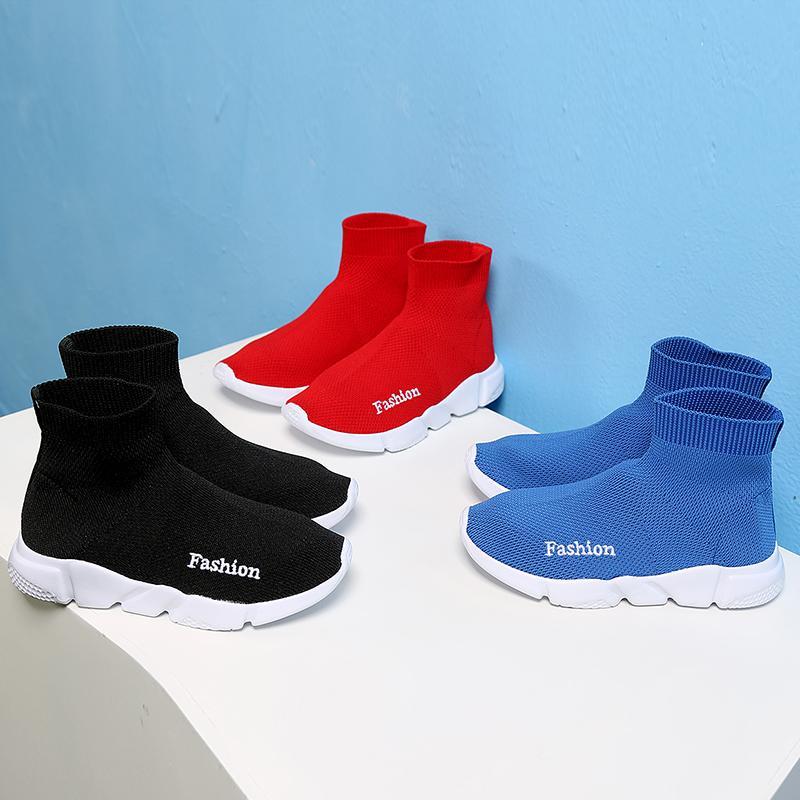 Crianças Sapatos Casuais Meninos Meninas Sneaker Criança Alta Elástico Pé Envolvendo Botas de Neve Kids Kids Shows Sapatos 201203
