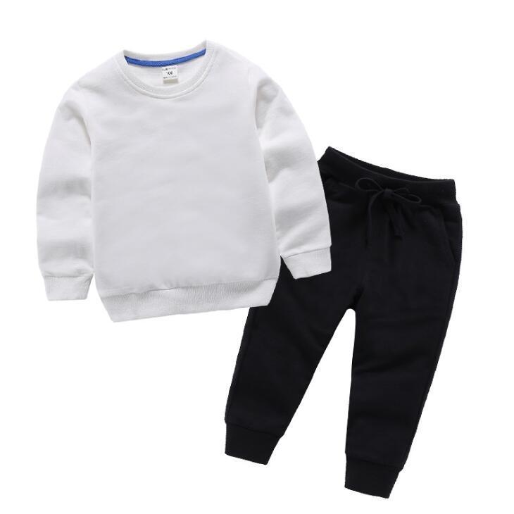 Классические дети круглые шеи костюм две части детская одежда дизайнер мальчик одежда мультфильм напечатанный детский дизайнер девушка одежда