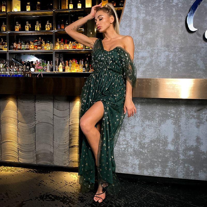 B7L4 Bodycon V шеи молния зимнее платье женские рукава бандаж длинный Vestido вечеринка сексуальное платье