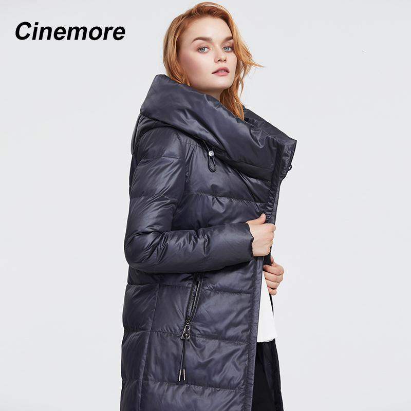 Alta mujer Cinemore Down Jacket 2020 Outerwear Bio New Collection Quality Hood Winter Parka Coat Warm Parkas Mujer 9853 ZK69