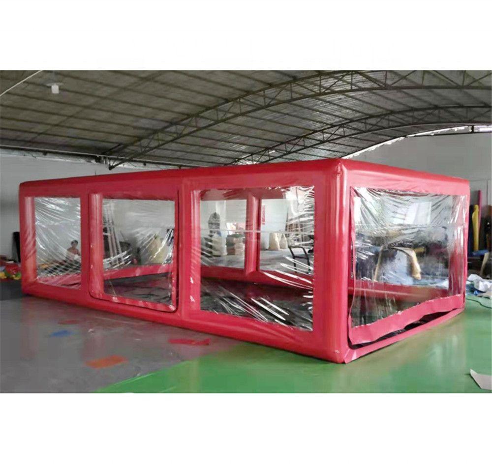 Cor personalizada cortador de pulverizador de pulverização Balão de carro inflável sala de pintura de carro de funcionamento garagem da motocicleta na PVC com sistema de filtro de ar