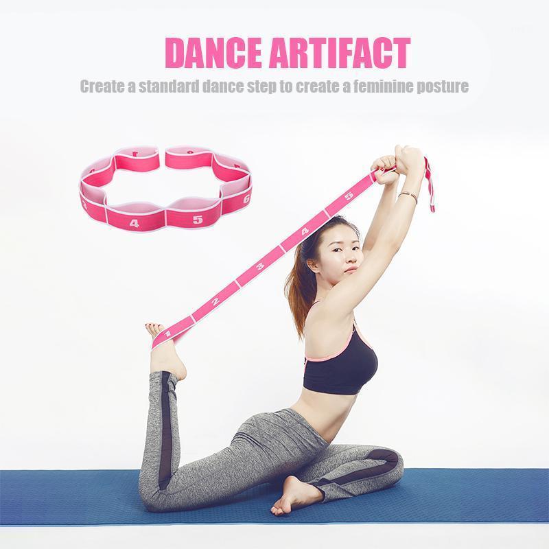 Устойчивые полосы сопротивления Yoga Pilates Gym Fitness Упражнения Bandsyoga тянуть ремень ремень полиэстер латуэкс эластичный латинский танец растяжения ленты Loop1