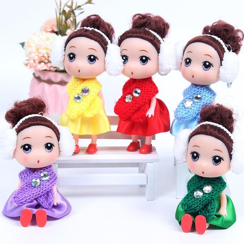 12 см зимой новый шарф путаница кукла привет Мэн барби брелок детский новогодний день подарок для ребенка взрослый