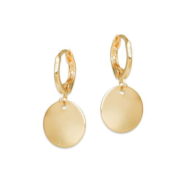 Hgflyxu pequenas brincos de gota para mulheres rosa ouro rosa cor de prata moda corte anel de orelha níquel livre de alta qualidade 2020 novo quente