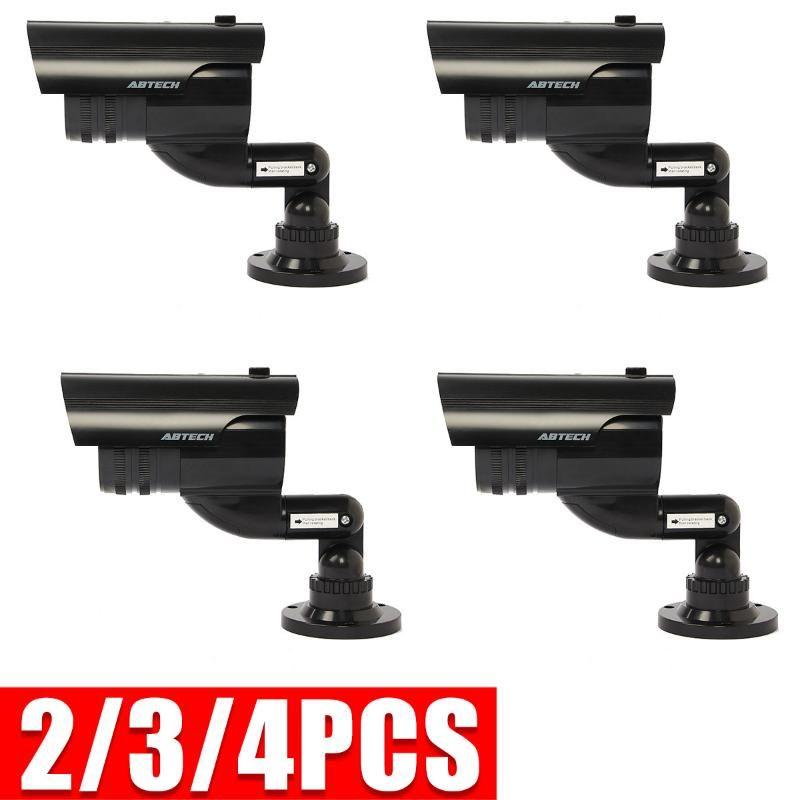 2 / 3 / 4pcs 가짜 카메라 감시 더미 LED 무선 가짜 돔 카메라 홈 CCTV 보안 시뮬레이션 비디오 감시