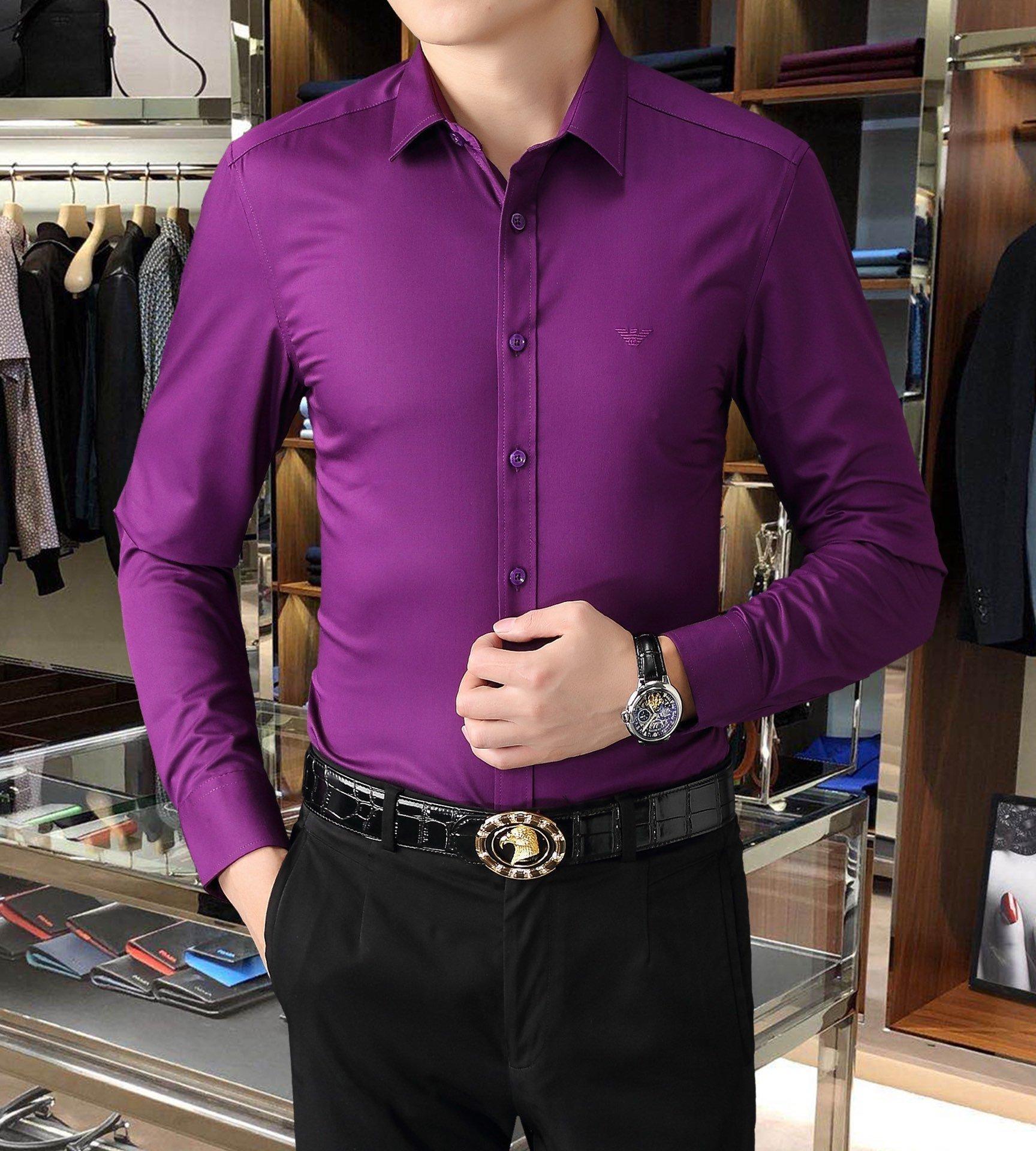 En iyi sıcak yaz simpleB5AE nakliye tasarımcı uzun kollu bluz erkek gömlek pamuklu erkek gömlek tişört erkeklerin sıcak Satış Ücretsiz