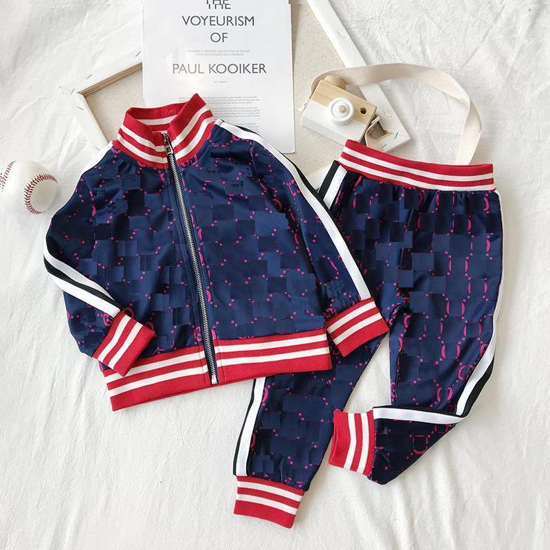 Enfants Designer Vêtements Ensembles de vestes de la lettre de luxe Lettre de la mode + Joggers Casual Sports Style Sweatshirt Vêtements de garçons