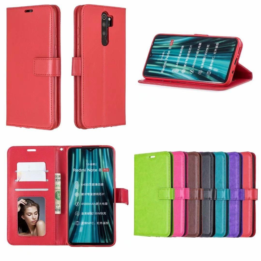 Verrücktes Pferd Brieftasche Leder PU TPU Telefonkästen Fall für Xiaomi 6X A3 9 SE 7A Redmi Anmerkung 8 7 K20 pro