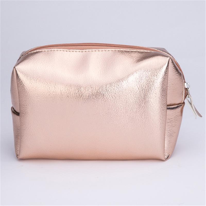 Frauen Kosmetiktasche Rosa Gold Makeup Tasche Reißverschluss Make-up Handtasche Organizer Aufbewahrungskoffer Beutel Kilometer Waschen Beauty Box
