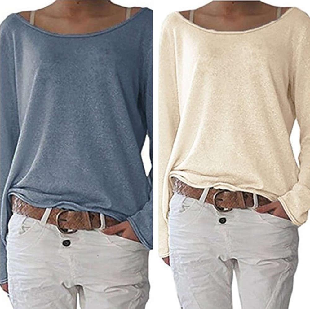 Женская сплошная цветная вязаная футболка верхнее нижнее пальто
