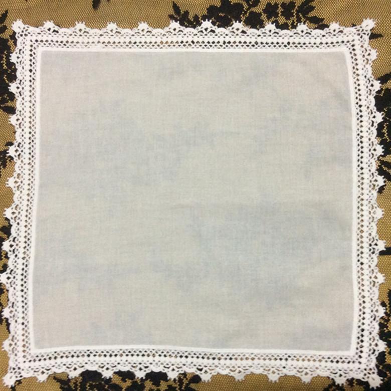 Satz von 12 Mode Baumwolle Taschentücher für Frauen / Damen / Braut / Hochzeit Taktuch Süßes Herz Hankies Vintage Hanky 12-Zoll1