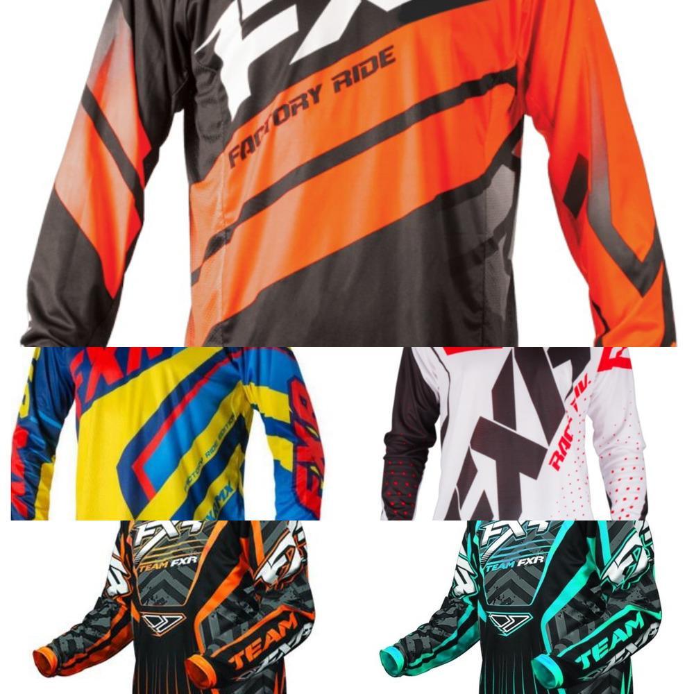 Motorrad-Trikots Trainingsanzüge Moto XC GP Mountainbike für FXR Jersey BMX DH MTB T-SHIRT Kleidung Q1222