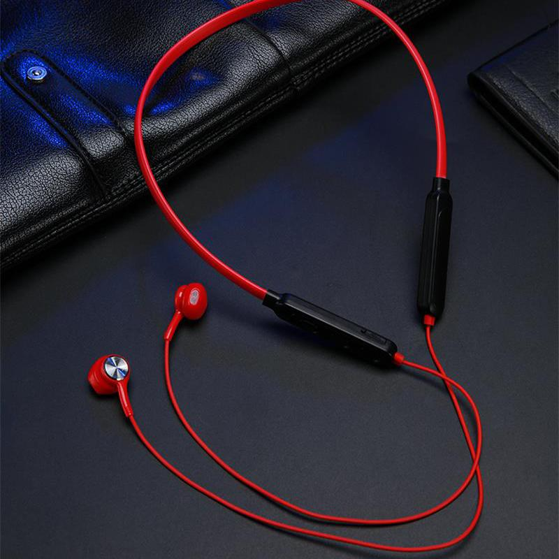 Wireless Bluetooth Earphones Magnetic Neck-Mounted Sports Stereo Mini Headset IPX7 Waterproof with Mic for Smartphones