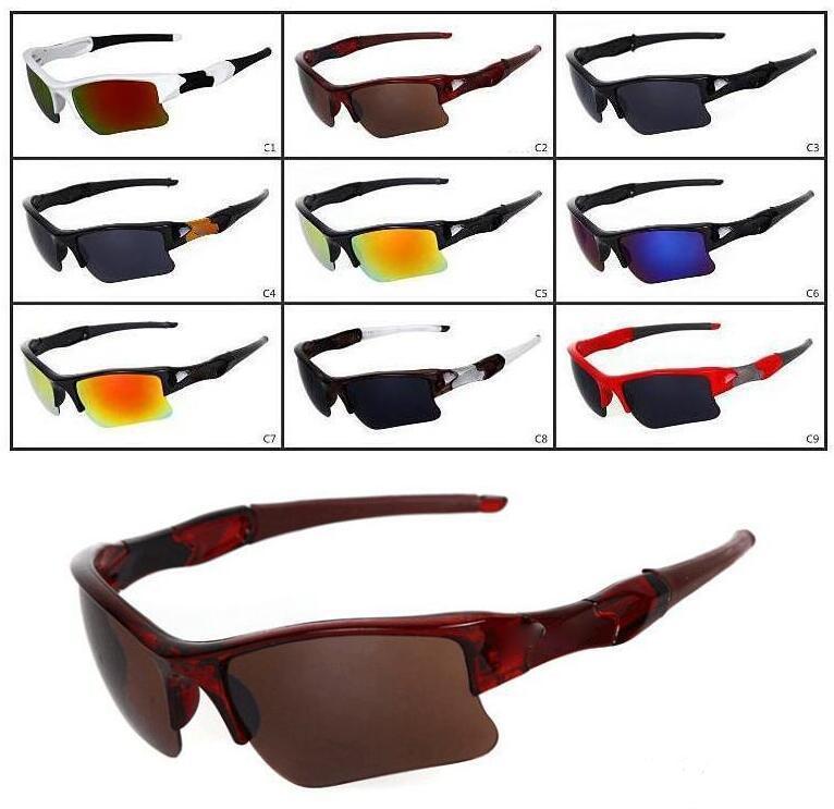 أزياء الرجال دراجة زجاج الشمس نظارات رياضية نظارات القيادة النظارات الدراجات نظارات رياضية في الهواء الطلق نظارات ركوب النظارات الشمسية 9 ألوان