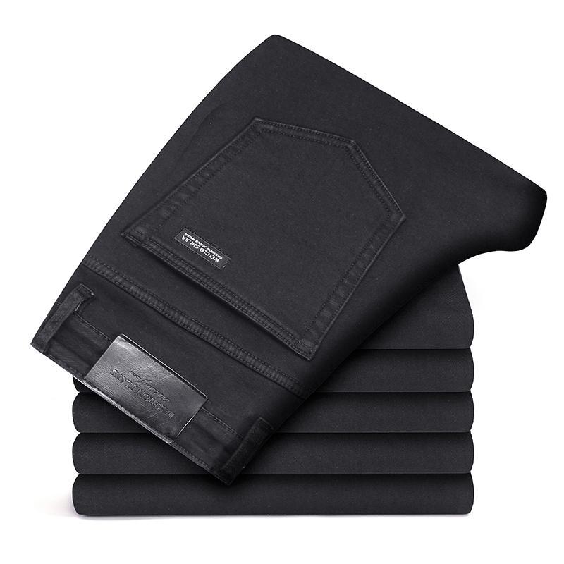 Männer dünne Mode hochwertige männliche elastische graue dünne Freizeitjeans Markenkleidung