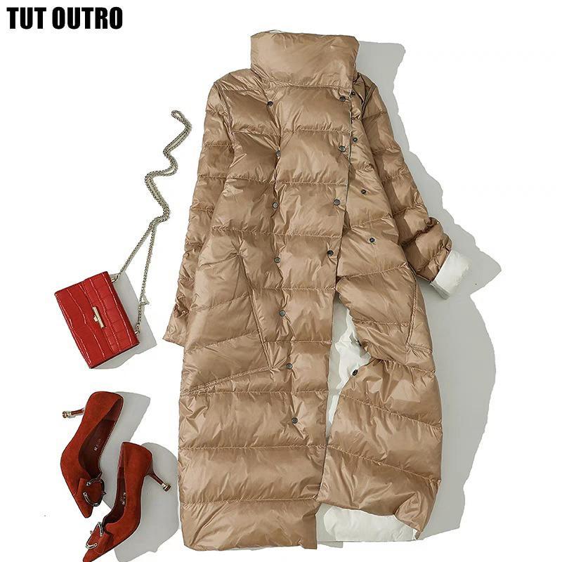 2020 Veste d'hiver pour femmes Canard blanc Double manteau Double côté Portez de neige Long Parkas Warm Femal Outwear Marque Vêtements WNWD