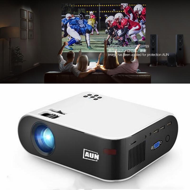 Aun Mini Projector Full HD 1080P فيديو LED العارض الروبوت WIFI Smart W18C Wireless Sync عرض أجهزة العرض للمنزل المسرح الفيلم