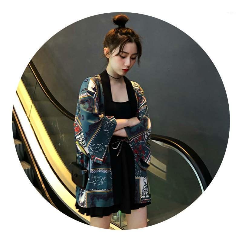 Женщины Блузки Рубашки Женщины Блузка 2021 Шифон Винтаж Корейский Мода Одежда Тонкая Защита Солнца Топы Три четверти Рукав Летний1