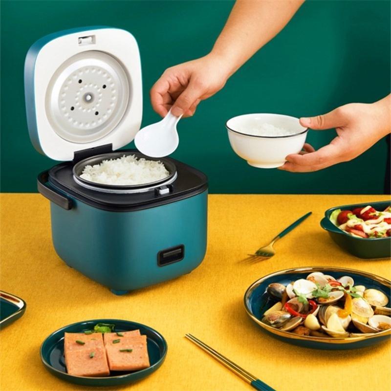 Cuisinières à riz 1.2L Mini cuisinière électrique intelligente Cuisine ménagère automatique 1-2 personnes petit