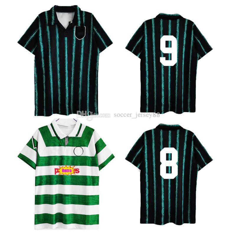 1991 1992 1993 Jerseys de football rétro CE 91 92 93 Classic Black Green LTR GILLESPIE CASCARINO VINTAGE UNIFNEMENTS KITS FOOTBALLES DE FOIS
