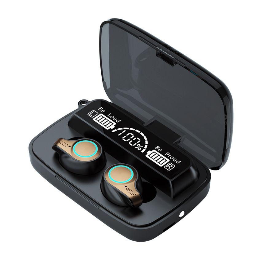 Status da bateria do display do diodo emissor de luz M18 M16 M10 TWS Wireless Bluetooth 5.1 Fone de ouvido Mini fone de ouvido Stereo Esporte Fones de ouvido Toque Toque Headset à prova d'água