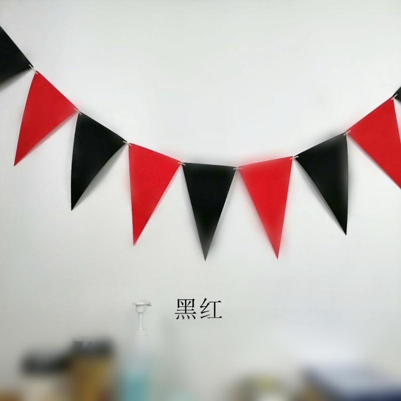 Festa Decorações Bandeira Puxando Não tecido Tecido Triângulo Colorido Aniversário Banner Childrens Sala Kids Room Bandeiras Pennant Festivo Novo 2 5XY M2