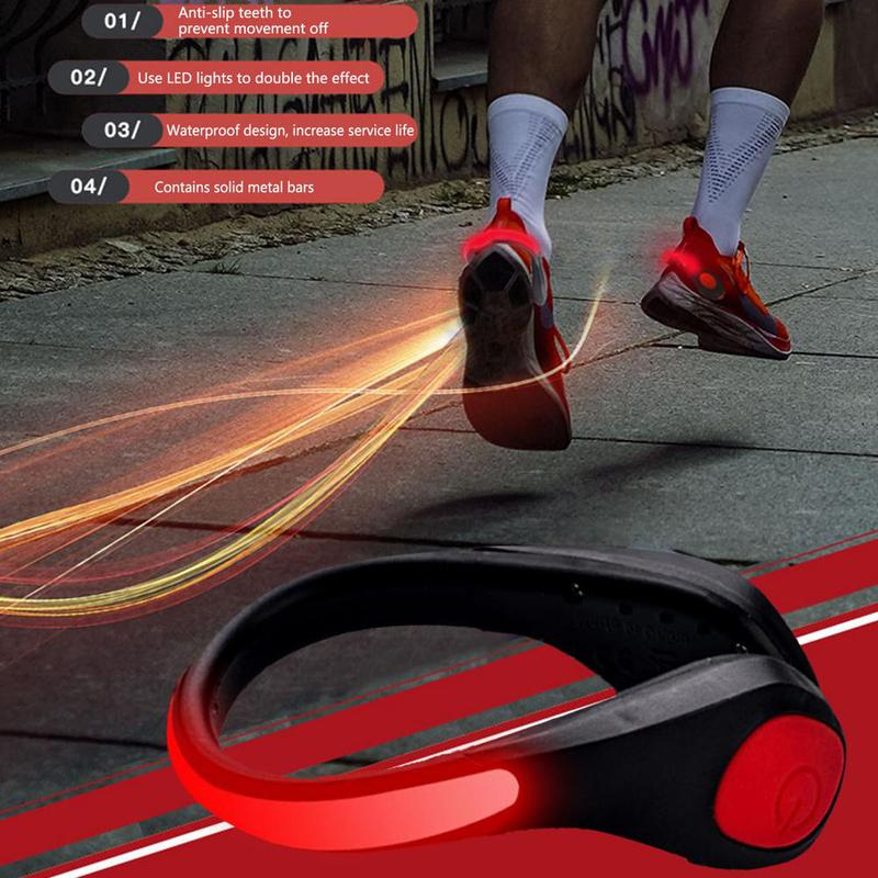 LED Luminous Shoe Clip Light Outdoor Novelty Lighting Sports Running Safety Warning Reflector Flashing Lights For Bike Cycling Running