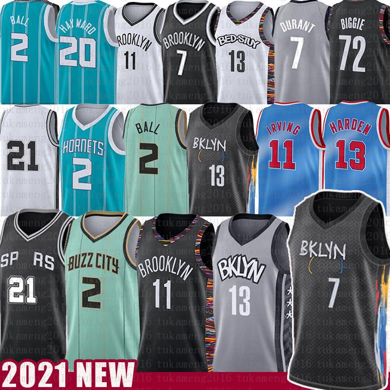 13 Harden Lamelo 2 الكرة 21 7 كيفن كرة السلة جيرسي ديورانت كيري جوردون 20 هايوارد 11 ايرفينغ 2021 نيوز