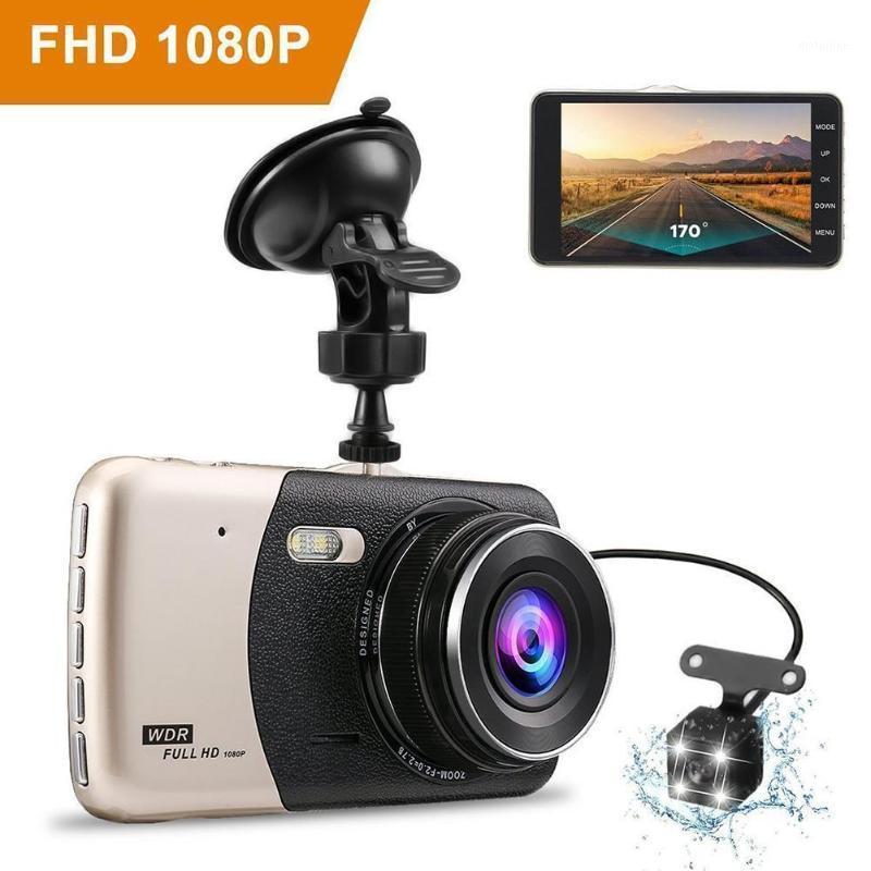 Coche DVR Dash Camera Cámara Recorder HD Night Vision 1080p Dual Lens Invertir Imagen Integrador Cámara Automóvil Parts 1