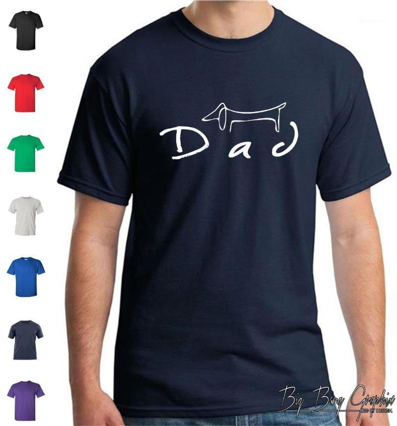 T shirt erkek dachshund weiner köpek babam aşkımı seviyorum pet kürk bebek kurtarma