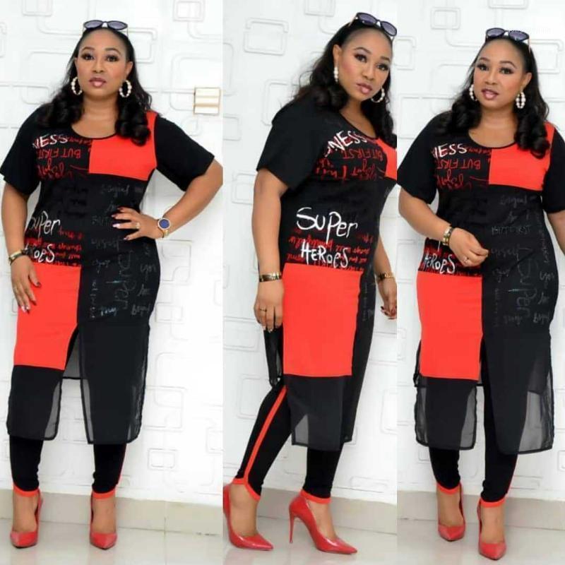 2 Dois peça Set Mulheres Roupa Africana Dashiki Moda África Terno (top and calça) super elástico festa plus size ternos para lady1