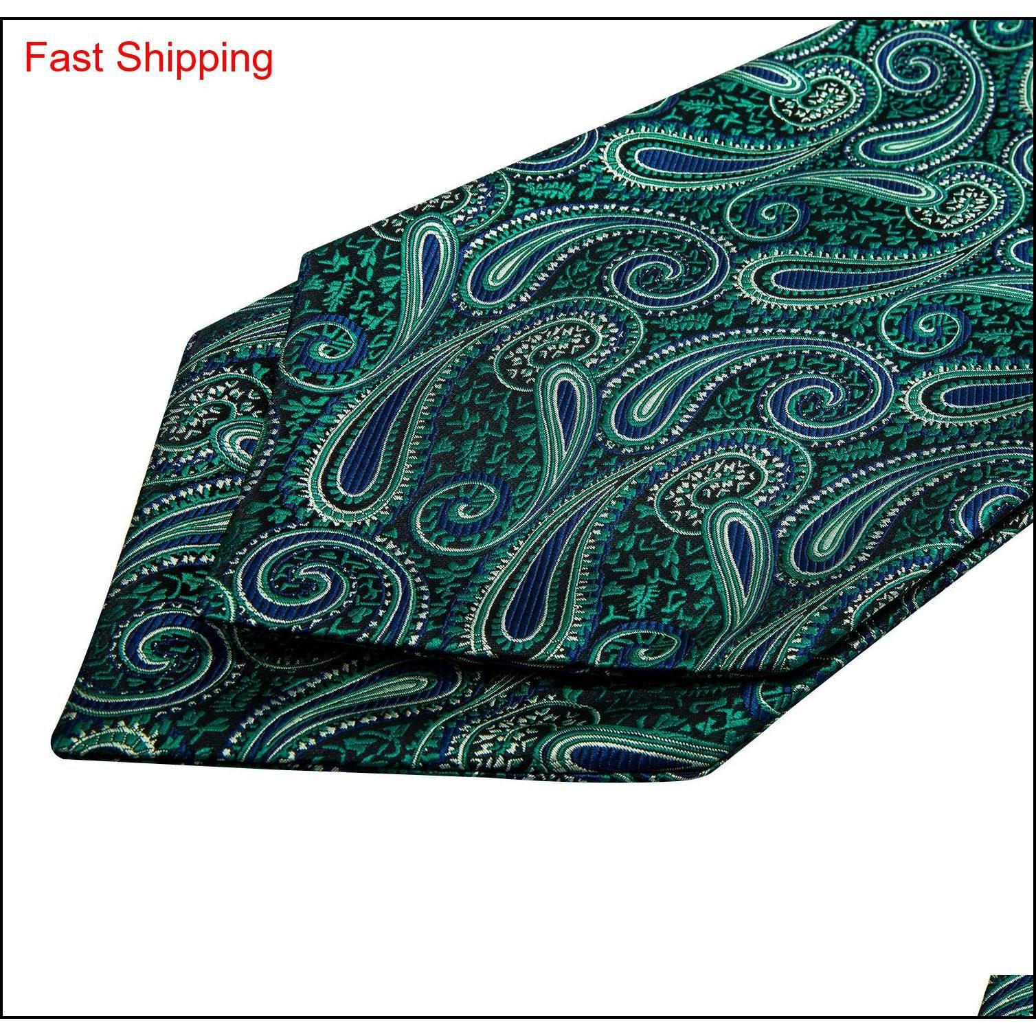 Hi-Kravat Yeşil Çiçek 100% Ipek Ascot Cep Kare Cadde Cravat Seti Casual Jakarlı Elbise Atkılar Qylutj Homes2007