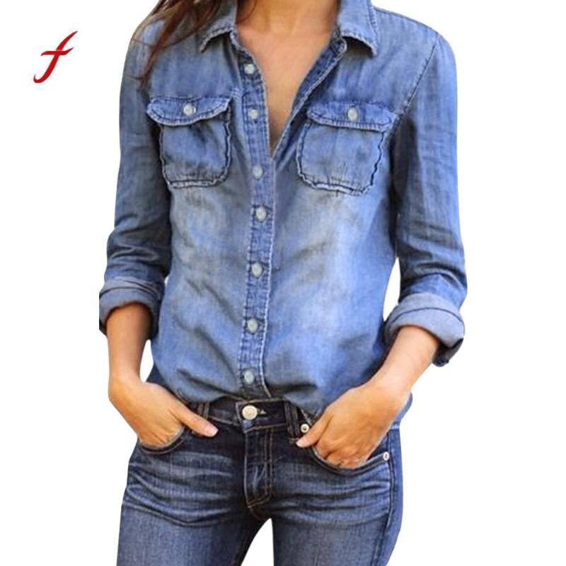 Женские куртки 2021 Женщины Базовое пальто Джинсовая Куртка Осень для джинсов Свободный подходящий повседневный стиль
