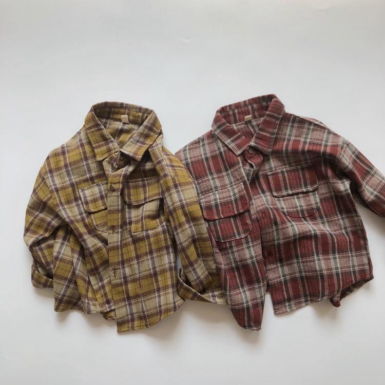 HX estilo coreano novo crianças meninas plíade camisas de algodão fahions camisa de volta outono de manga longa bolsos frontais top bount bounds meninos