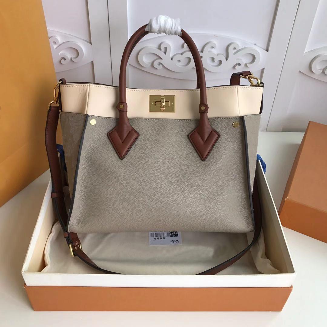 Venta al por mayor Precio Venta bolsas de cuero de alta calidad Totes de las mujeres con la bolsa de las bolsas de hombro de la bolsa Nueva Moda en mi bolsa de asas lateral M53824 M53825