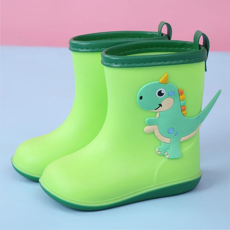 2020 Rainboots per Baby Impermeabile Stivali da pioggia Boy Girls PVC Dinosauro Cute Cartoon bambini Scarpe da acqua traspirante