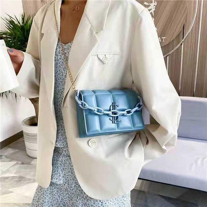 HBP 새로운 고품질 숙녀 패션 어깨 가방 클래식 가죽 플라스틱 체인 1000