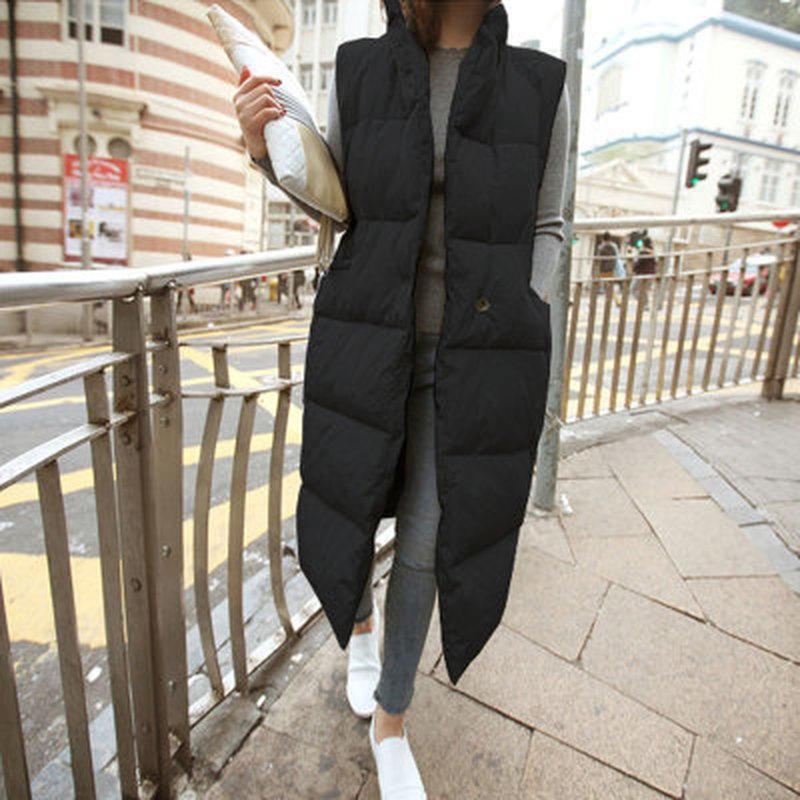 Automne hiver rembourré gilet femme mode lâche manteau de femme en vrac coréen down coton gilets chauds vêtements pour femmes