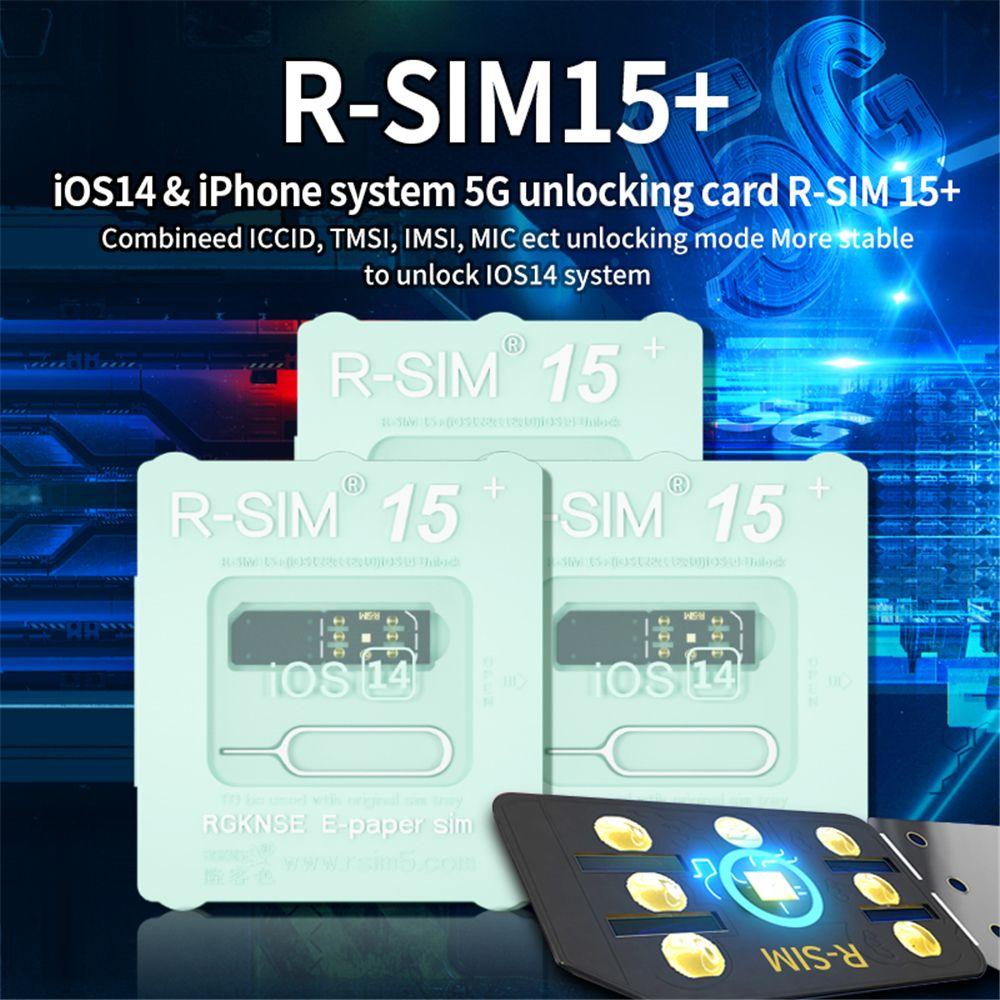 RSIM 15+ R-SIM 15+ Cartão de Desbloqueio para iOS 14 Dual CPU AEGIS AEGIS Upgrade Universal Desbloqueio Cartão para 5G iphone12 XR 8 7