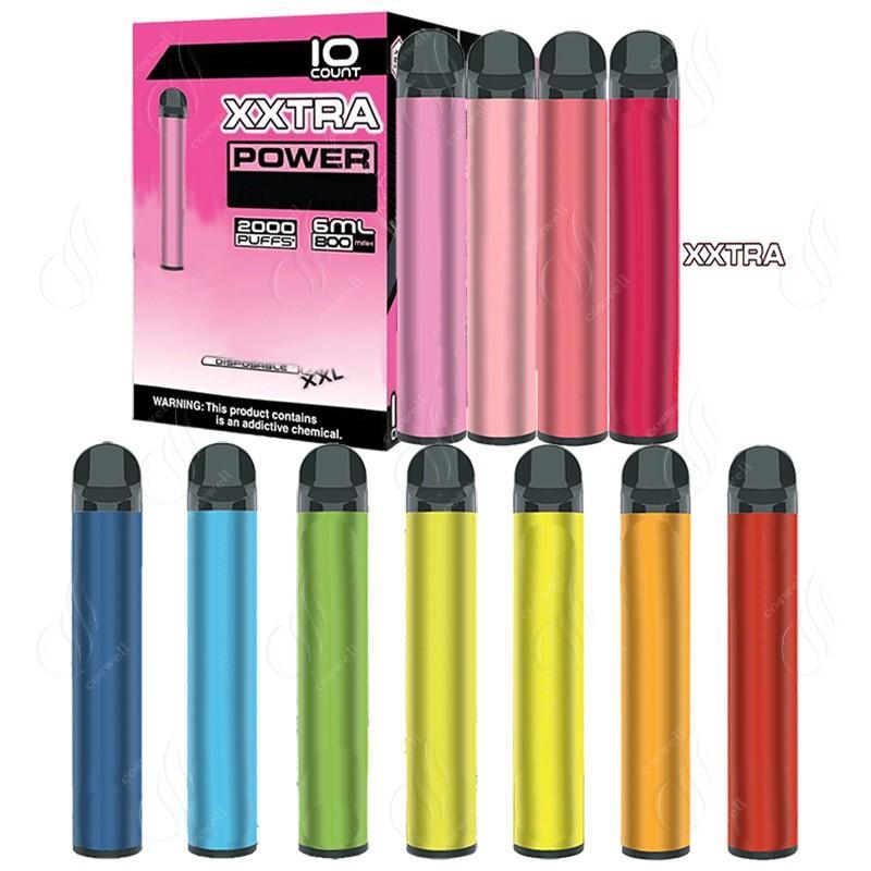 Più nuovo Bang XXL XXTRA 2000Puffs Deposito vape monouso Penna 800mAh Batteria di alimentazione Pre-riempita 6ml Pods Cartridge Cartridge VAPOR ECIGS VAPorizzatore portatile