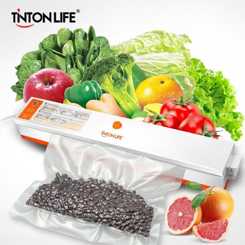 Tinton Life Nouveau Scellant d'aliments à vide avec sac de scellant à vide à 5 rouleaux (12x500cm, 15x500cm, 20x500cm, 25x500cm, 28x500cm) Expédition rapide