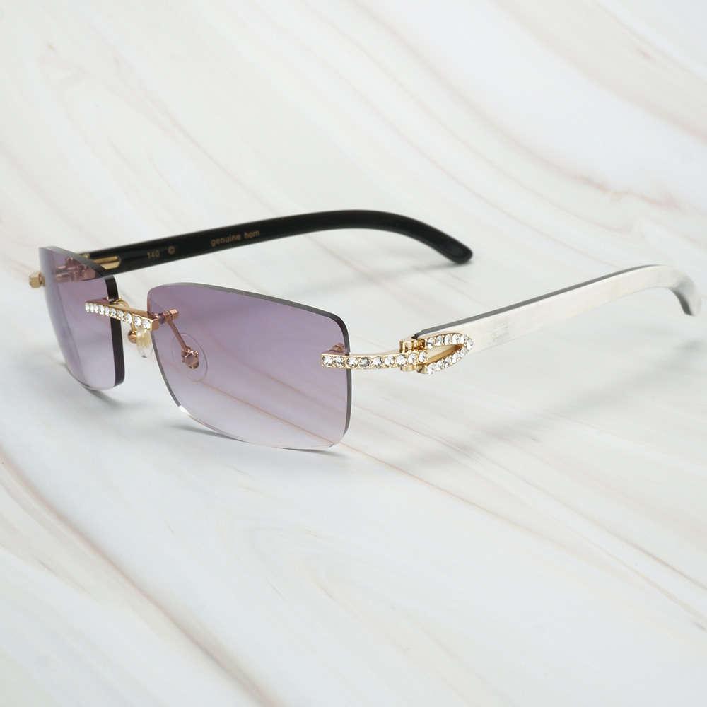 Ienbel Luxury White Mix Black Buffalo Hombres Hombres para mujer Gafas de sol de la marca Eyewear para la pesca Festival Rave