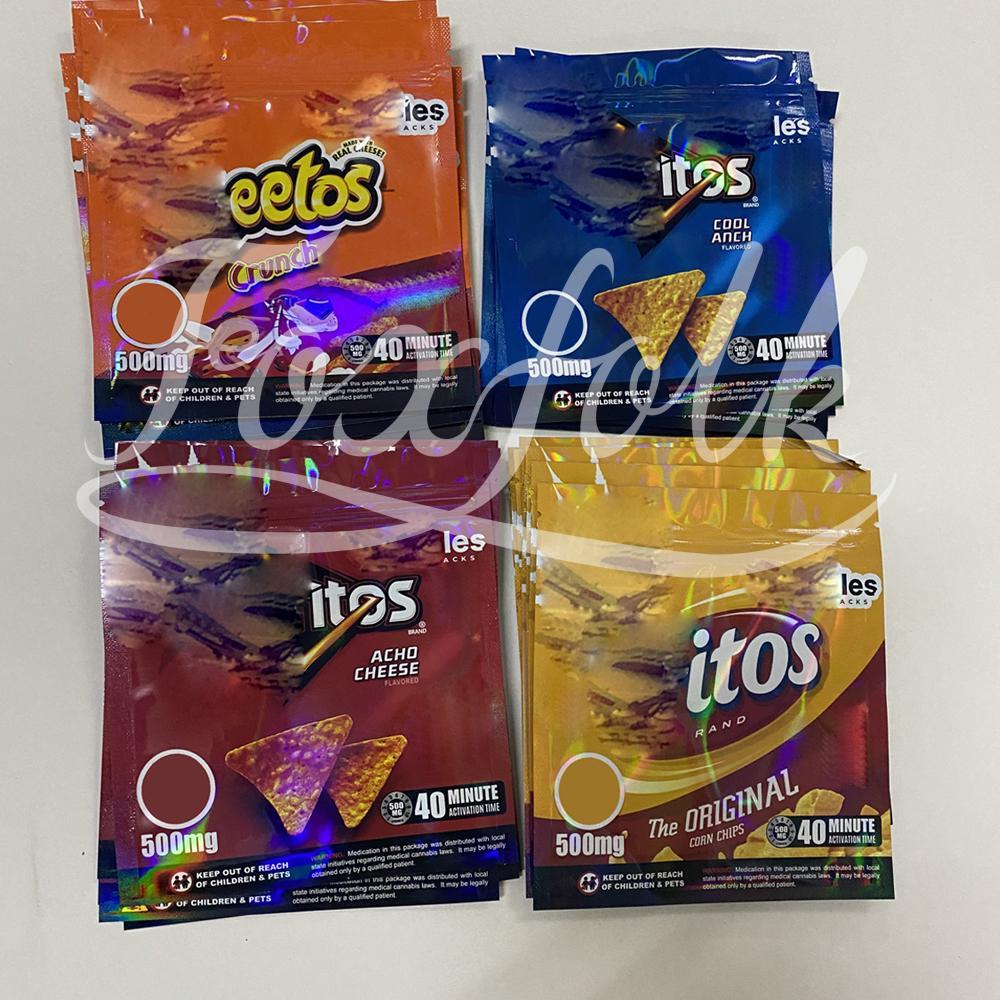 Personalizado Chipps Comestível Mylar Pacote de Biscoitos Sorte Mylar Embalagem Para Queijo Original Comestível Cheiro À Prova Sacos Zipper Bloqueio Mylar Bolsa