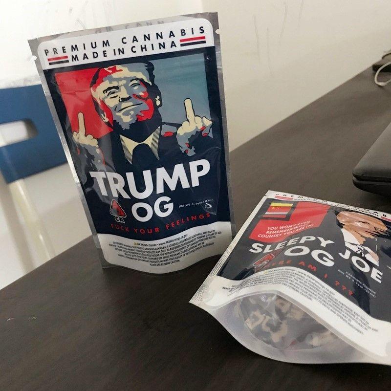 Runtz Sleepy Retail OG 3.5G Trump OG Mylar Bags Bags Bag Pacchetto Pouch Joe Storage Confezione con cerniera Zipper DHL NKRFS