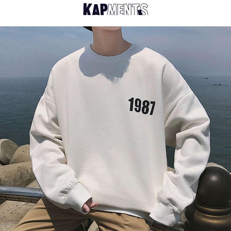 Kappments Hombres Moda Coreana Slido Jersey Sudaderas con Capucha 2020 Harajuku Streetwear Mens Sudadera Pareja Casual Ropa Kpop de Talla